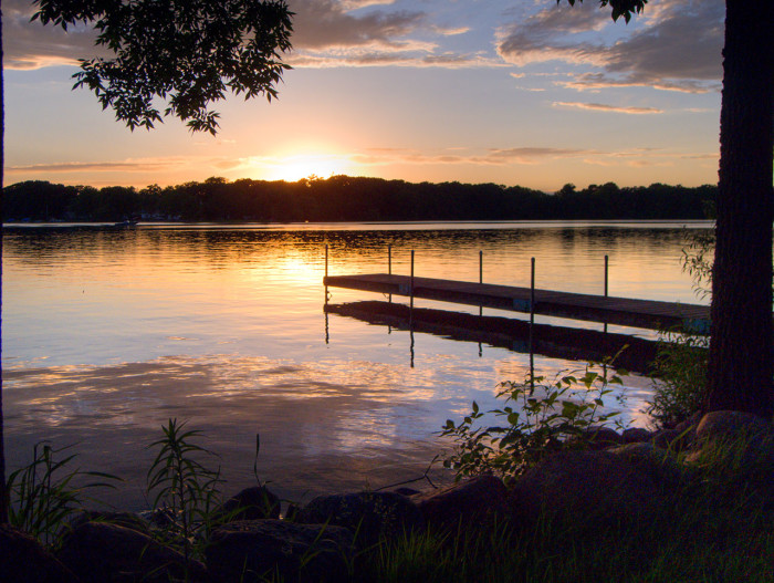 10. Spend the evening admiring the tranquil scenery at Five Island Lake, near Emmetsburg.