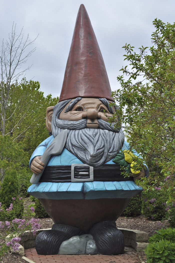 10. The world's largest garden gnome