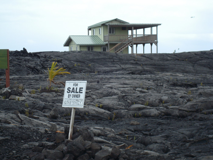 11) Though lava flows wiped out most of this area years ago, some houses still stand, and make for quite the unnerving place to visit.