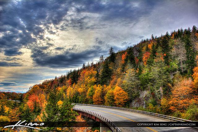 8. Blue Ridge Parkway during fall