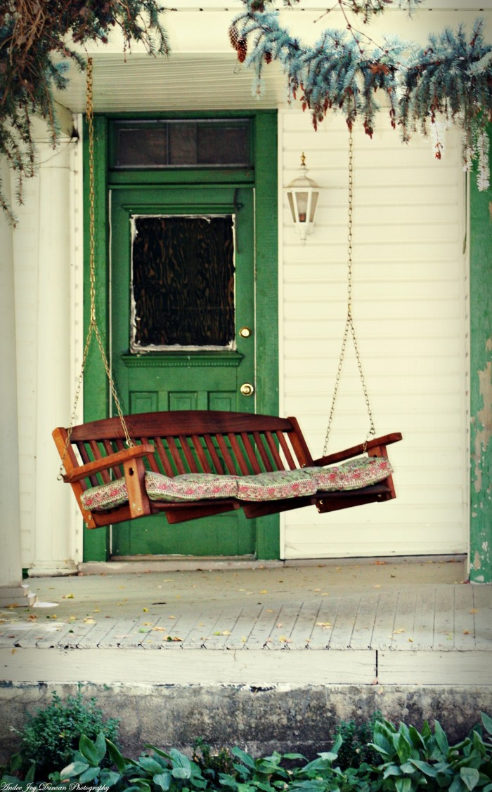 11. Porch swings are the best kind of swings.