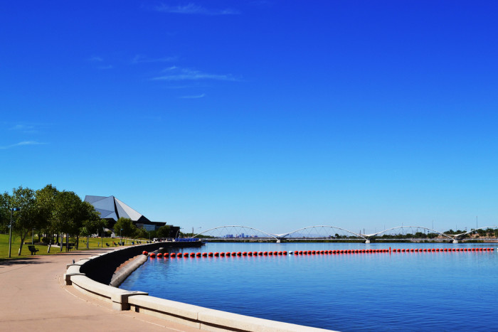 12. Tempe Town Lake doesn't have much in the way of beaches but it's called a beach park nonetheless.