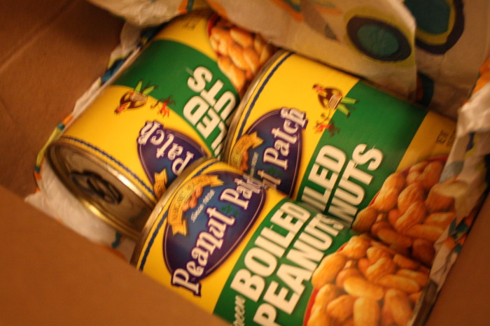 1. Buying boiled peanuts…that come in a can.