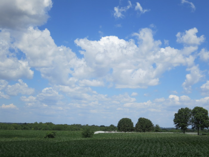 13.  A perfect combination of the beautiful blues and greens in the farmlands of Missouri near Emma.  Lovely!