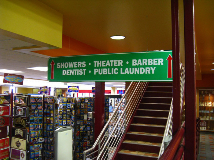 And the only truck stop with a movie theater, dentist, and chiropractor