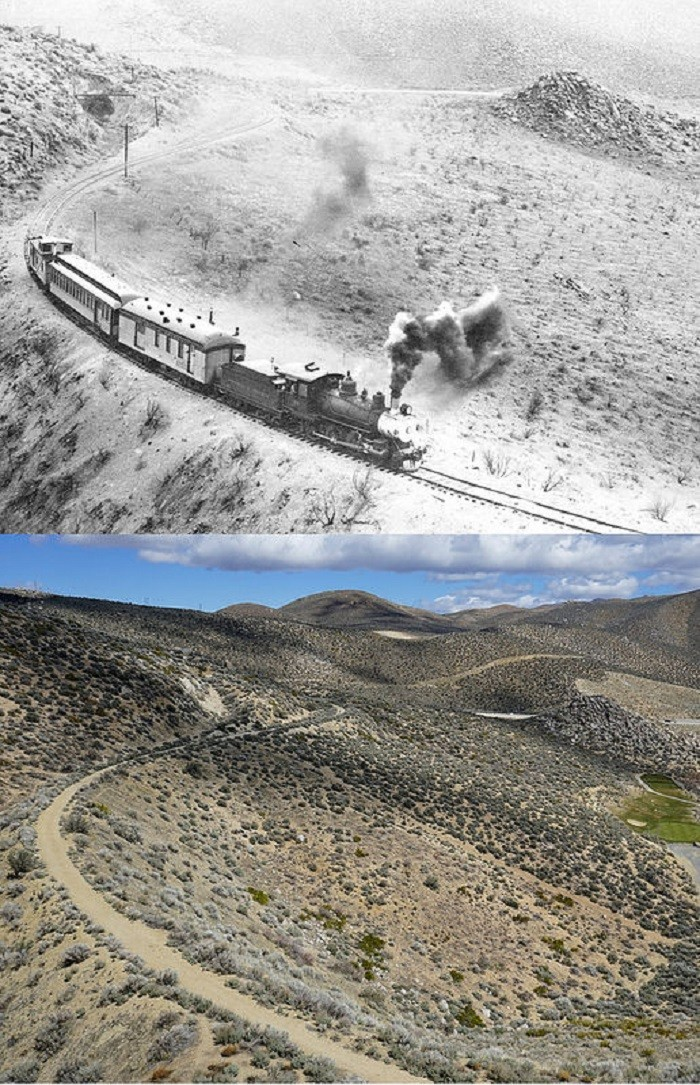 1. Virginia and Truckee Railroad - 1940s and Today