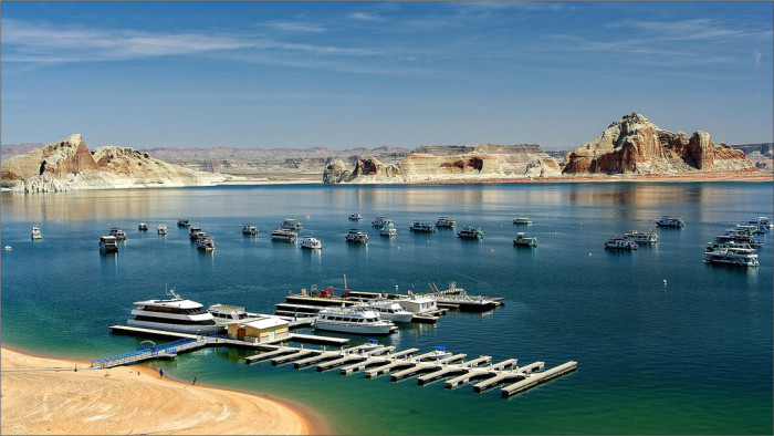 3. Another view of a beach at Lake Powell.