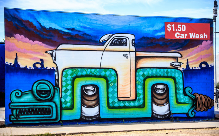 2. This one is located on the side of a car wash on Roosevelt & 7th Avenue in Phoenix.