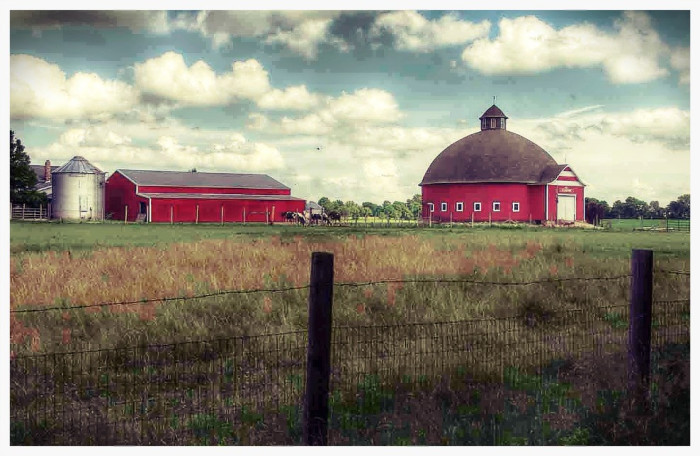 4. A beautiful capture of a farmstead located in Tippecanoe County.
