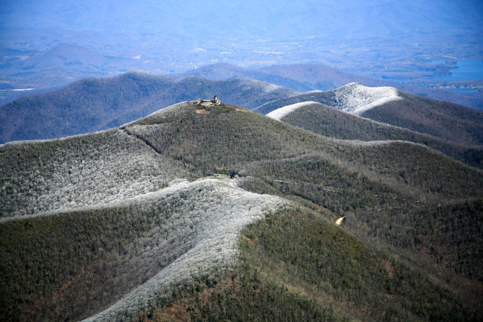 9. Brasstown Bald - The highest point in Georgia.