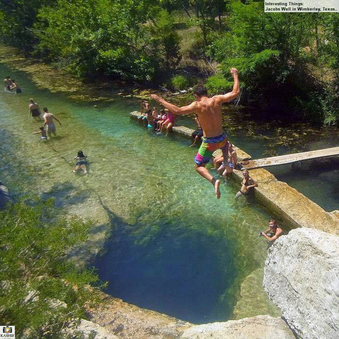 3) Taking the plunge into Jacob's Well