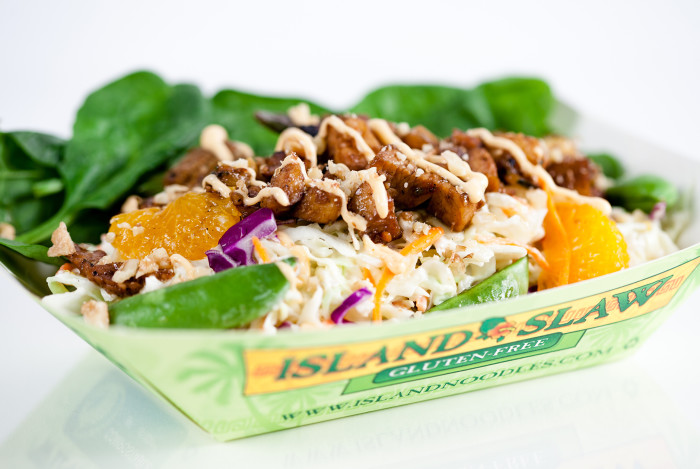 4. Island Slaw - This innovative twist on coleslaw includes pineapple and teriyaki chicken, so you know it's going to be a winner.