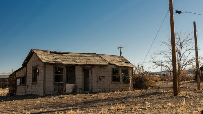 7.  This dilapidated house is located in Mina, Nevada. Do you think it's haunted?