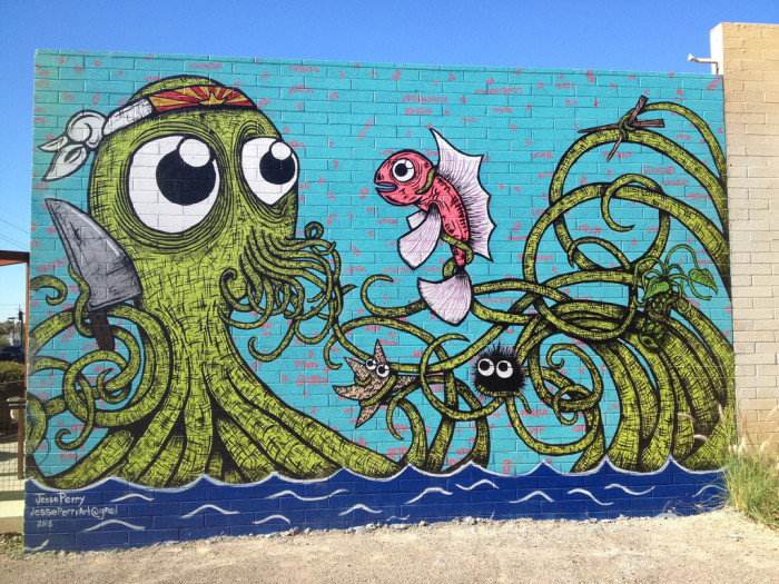 11. This is an example of the extensive amount of street art found along Roosevelt Row in central Phoenix.