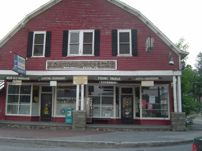 13. An unknown general store in Marshall's Creek