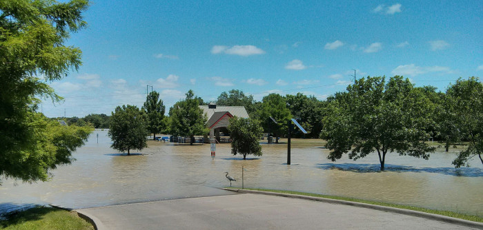 1) Driving through floodwaters..