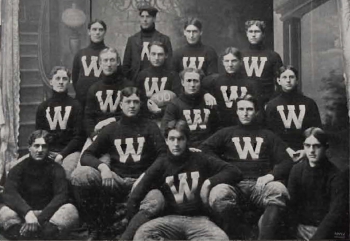 6. The Washington State University football team in 1900. Back then, the school was known as Washington Agricultural College.