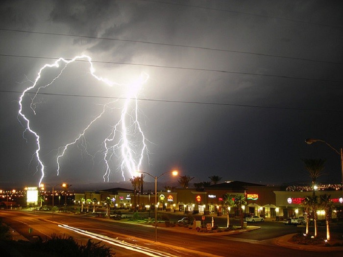 1. This lightning storm over Henderson is INSANE!!!