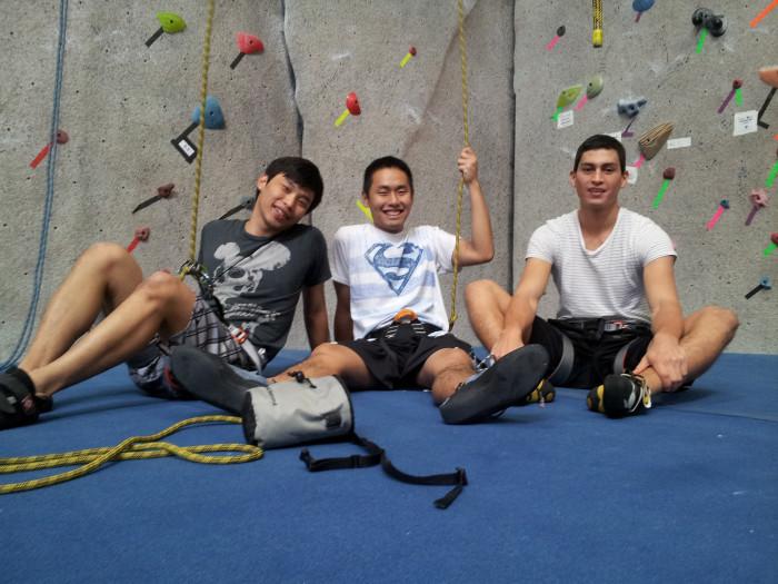 1. Go indoor rock climbing