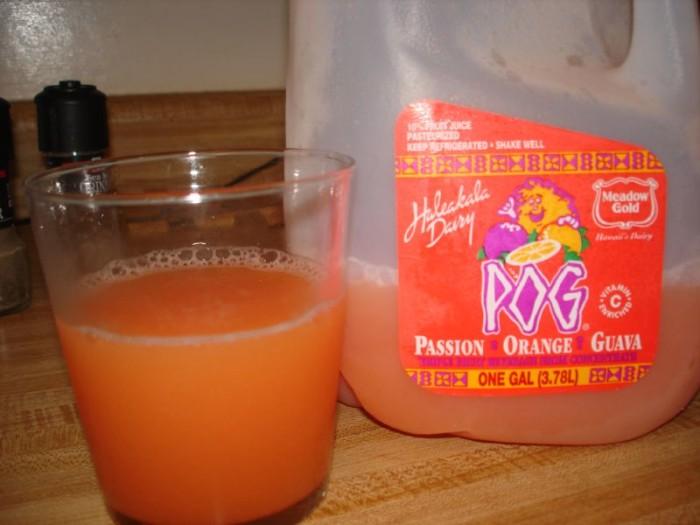 "2) Also known as passion orange guava, POG is a wonderful fruit ""juice"" concoction."