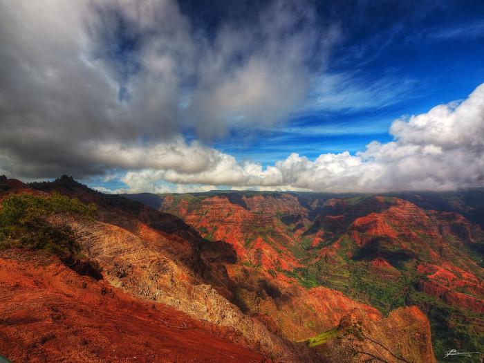 2) Kauai's Waimea Canyon is one of Hawaii's most stunning.