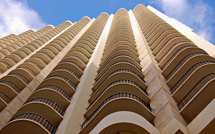 2) This unique hotel in Honolulu was captured at a killer angle.