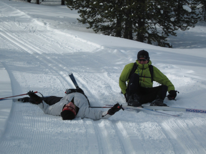 6) Attempted Skiing