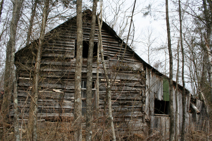 9. This is an abandoned cabin somewhere in the woods of Indiana. Abandoned cabins are cool, but they kind of give me the creeps too!