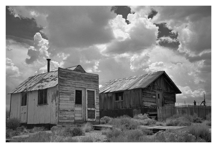 8. This pair of old miner's cabins is located in Tonopah, Nevada. Would you ever be brave enough to explore these...AT NIGHT???