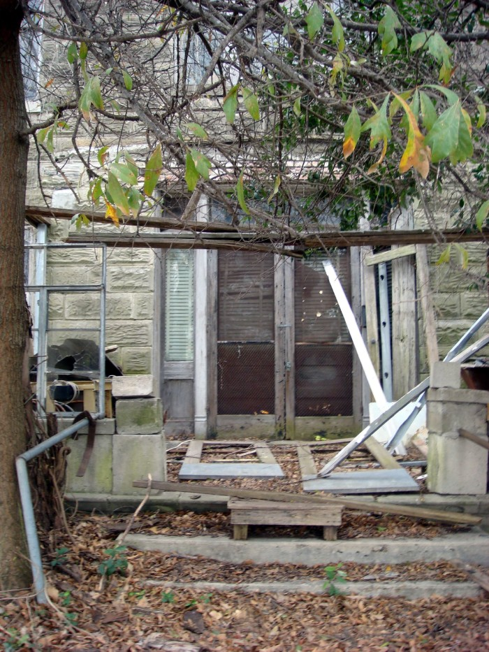 2. Just the thought of walking through the door of this dilapidated Greenville home is enough to give anyone the creeps.