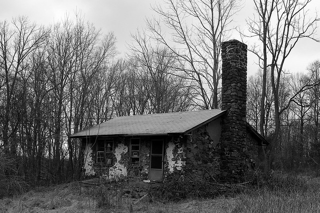 6. Wow, check out the chimney on this creepy house in Haycock.
