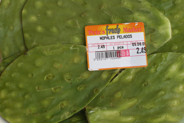 2. Plus nopales in the grocery store.