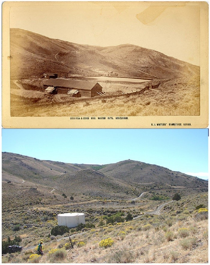 5. Virginia City Reservoir - Circa 1873 and Today