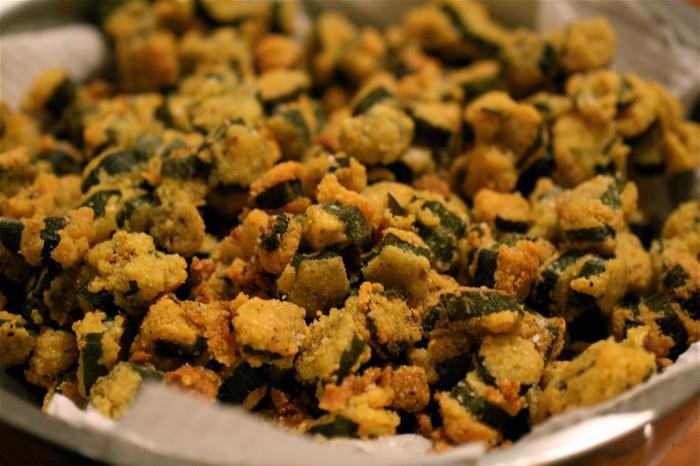 3) Fried Okra