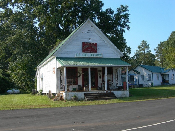 2. Barfield General Store, located in Clay County, Alabama, was established in 1893. The building is now an antique store.