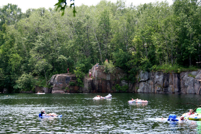 3. Quarry Park in St. Cloud is great for jumping and swimming alike. You can also scuba dive here.