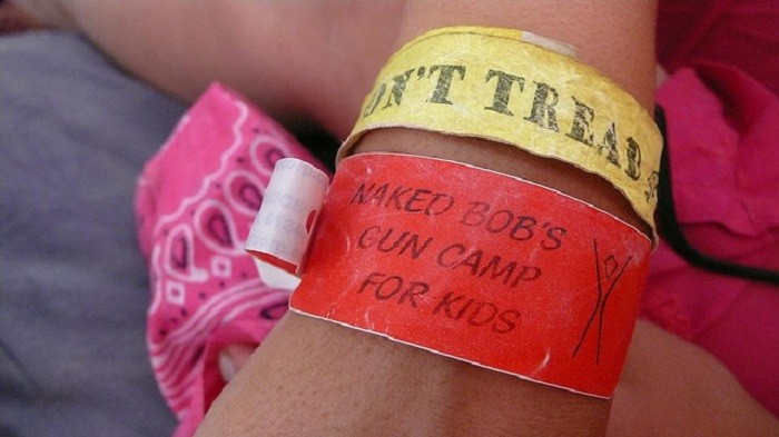 9. This is an entry/exit pass for Burning Man and it makes me GIGGLE!!!