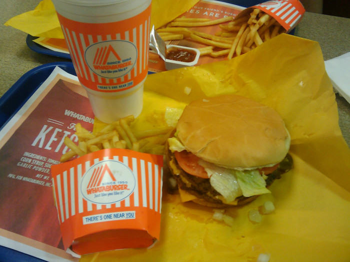 3) You think Whataburger = happiness. And deliciousness.