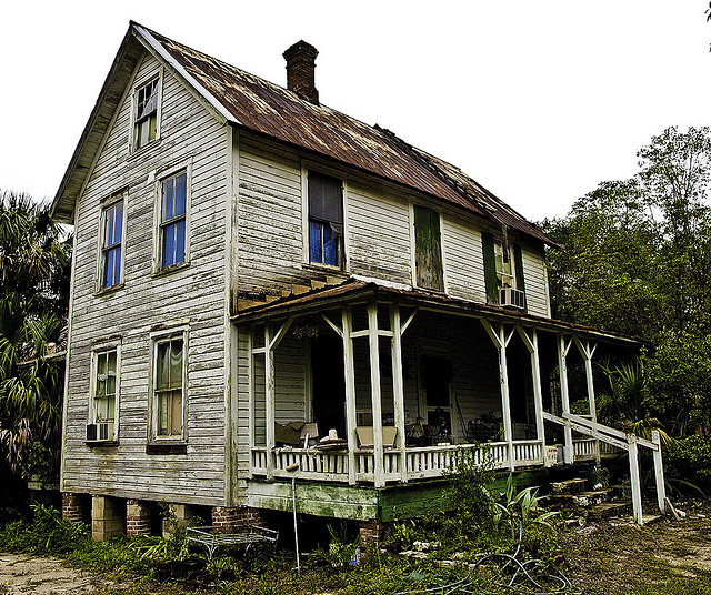 12. This house in Pomona Park was probably beautiful in its day, but has been since left to decay.