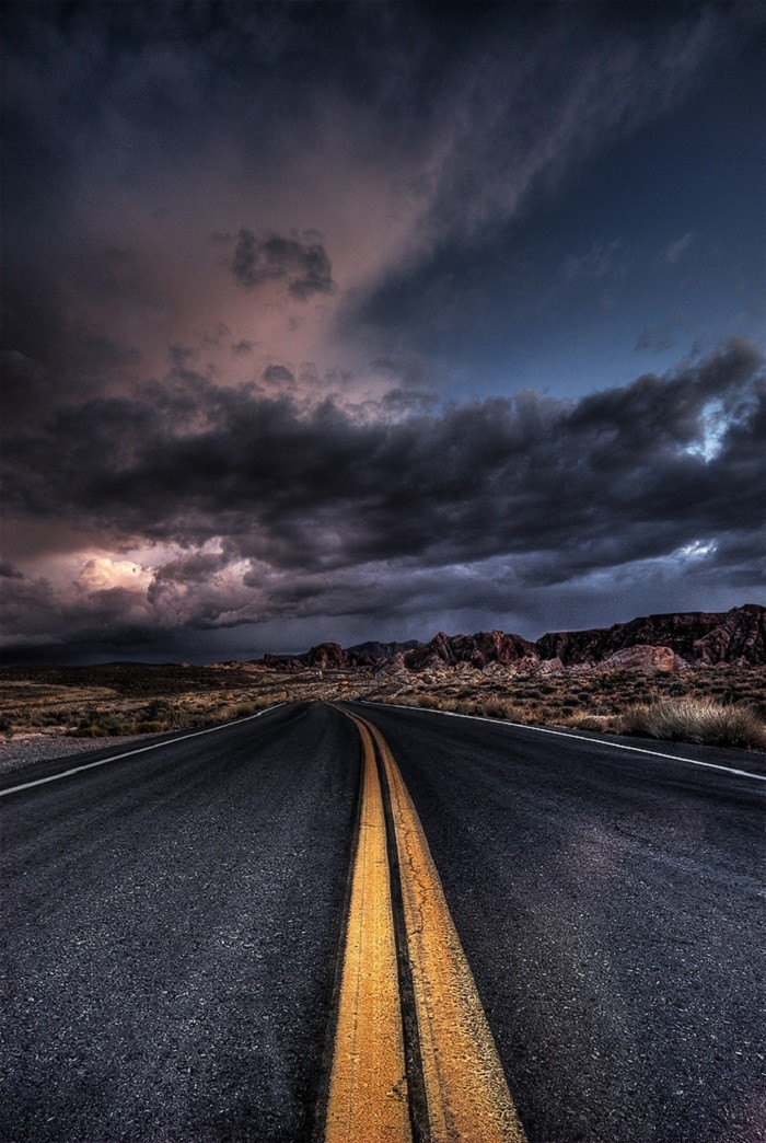 6. A storm is quickly approaching the Valley of Fire area.