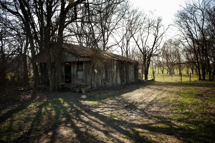 3. You can tell just by looking at this abandoned Delta home that something bad has happened here.