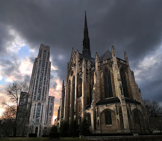 8. The Cathedral of Learning & Heinz Chapel in Pittsburgh