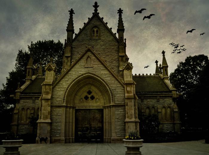 5. Haunted Crown Hill Cemetery Church