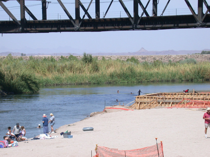 10. Here are some folks enjoying the Colorado River's beach in Yuma.
