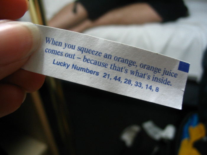 1) The most awesome fortune cookie ever!