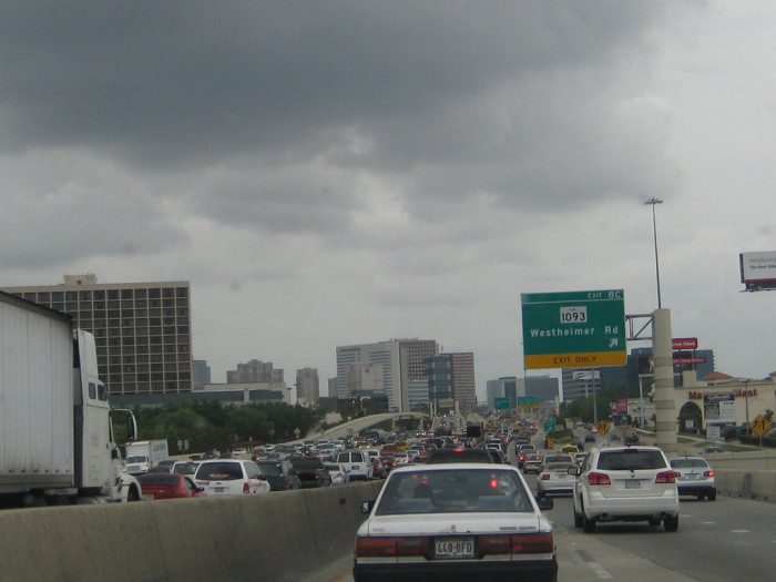 3) Entering any freeway in any big city when it looks like this.
