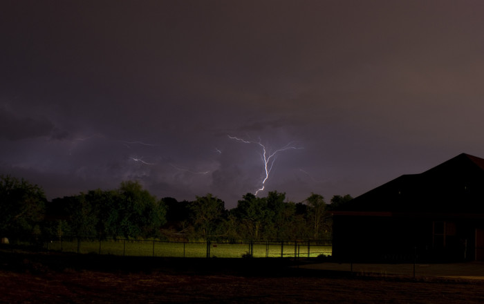 5. This lightning storm over Meridianville is so low that it's FRIGHTENING!!!