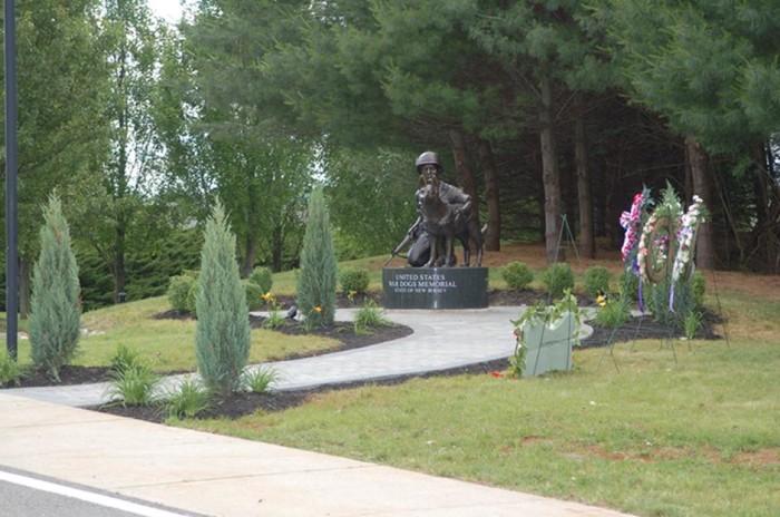 1. United States War Dogs Memorial, Holmdel