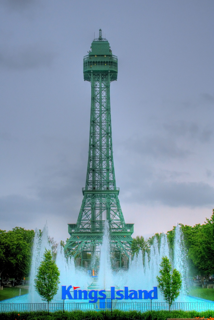 6. Kings Island Amusement Park Eiffel Tower (Mason)