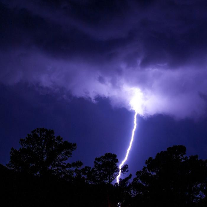 3. That lightning strike had to have hit something. WOW!!!